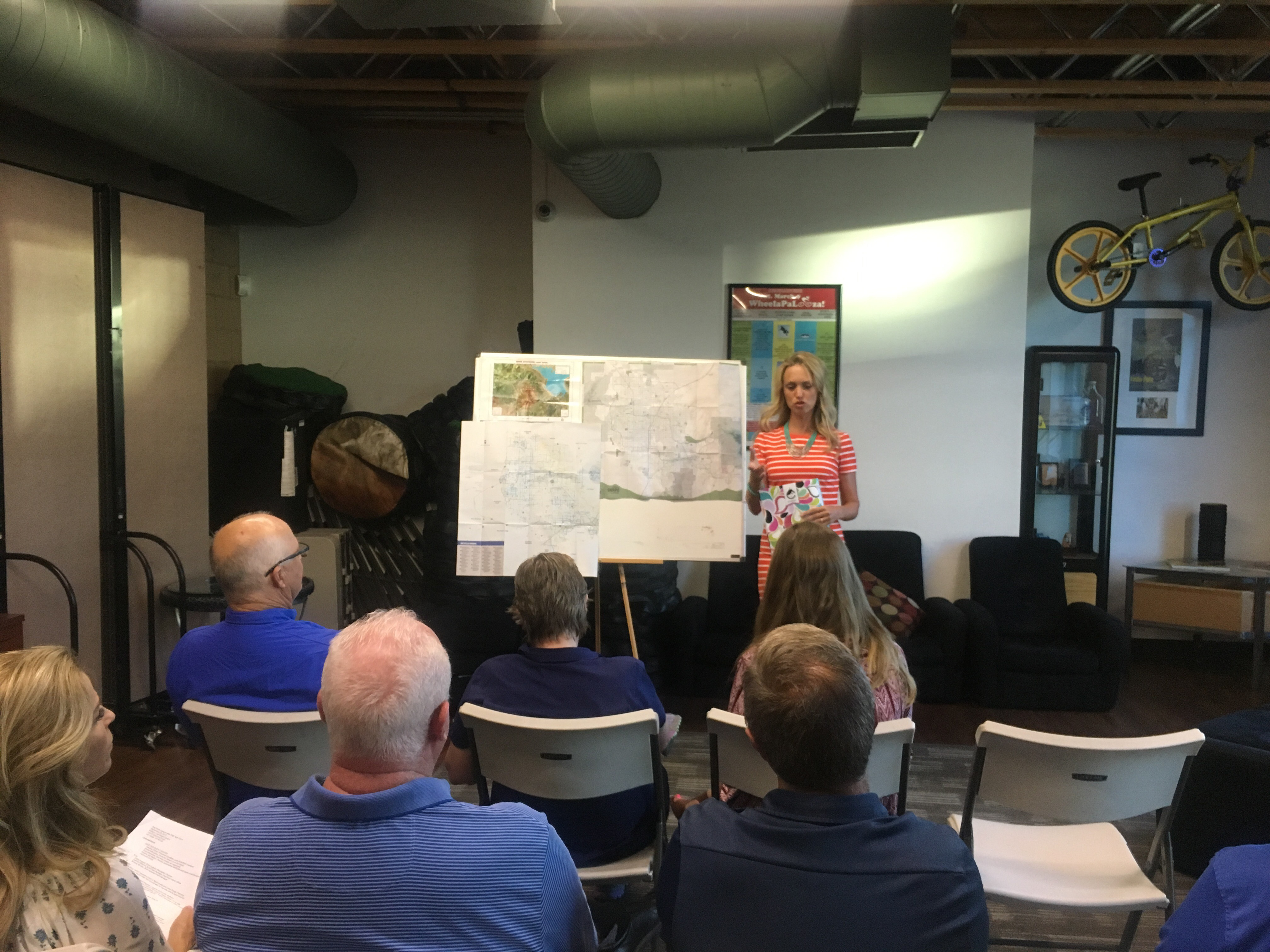 Heather Fisher presents to Save Red Rock