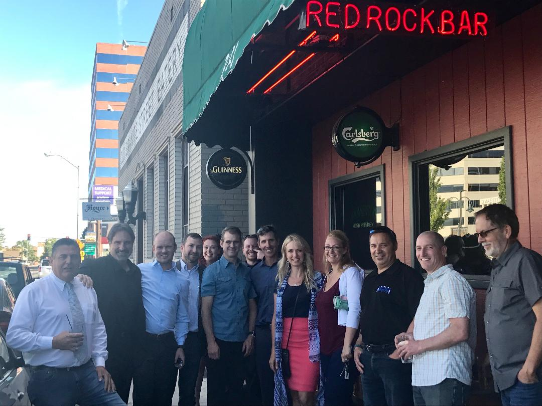 Jared and Heather Fisher at Red Rock bar in Reno
